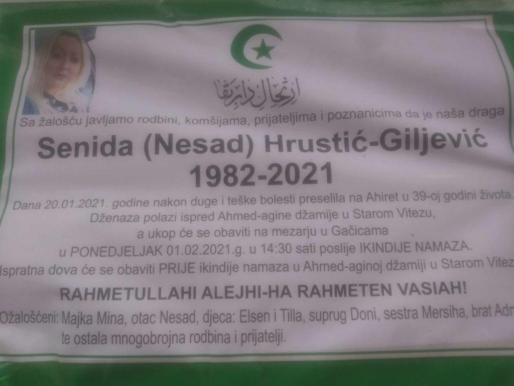 Preminula Senida Hrustić-Giljević