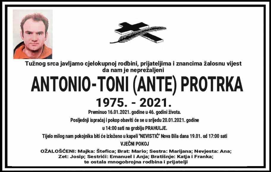 Preminuo Antonio-Toni Protrka