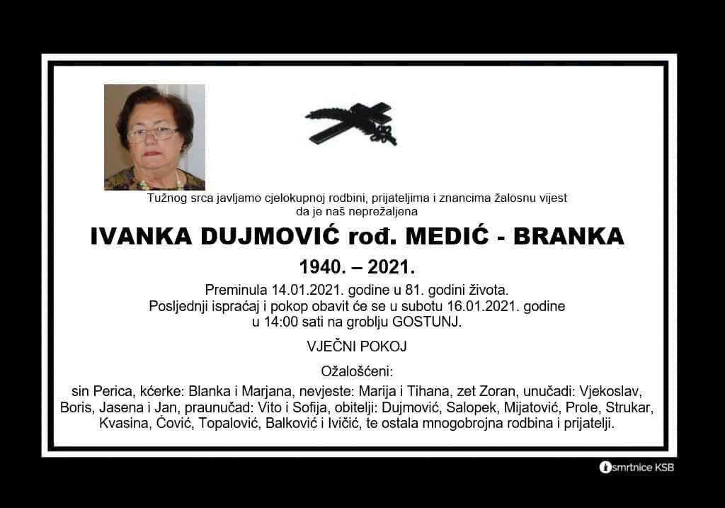 Preminula Ivanka Dujmović