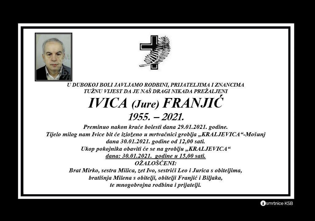 Preminuo Ivica Franjić