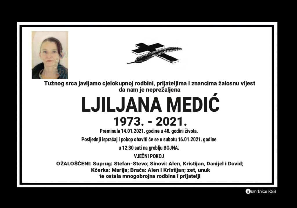 Preminula Ljiljana Medić