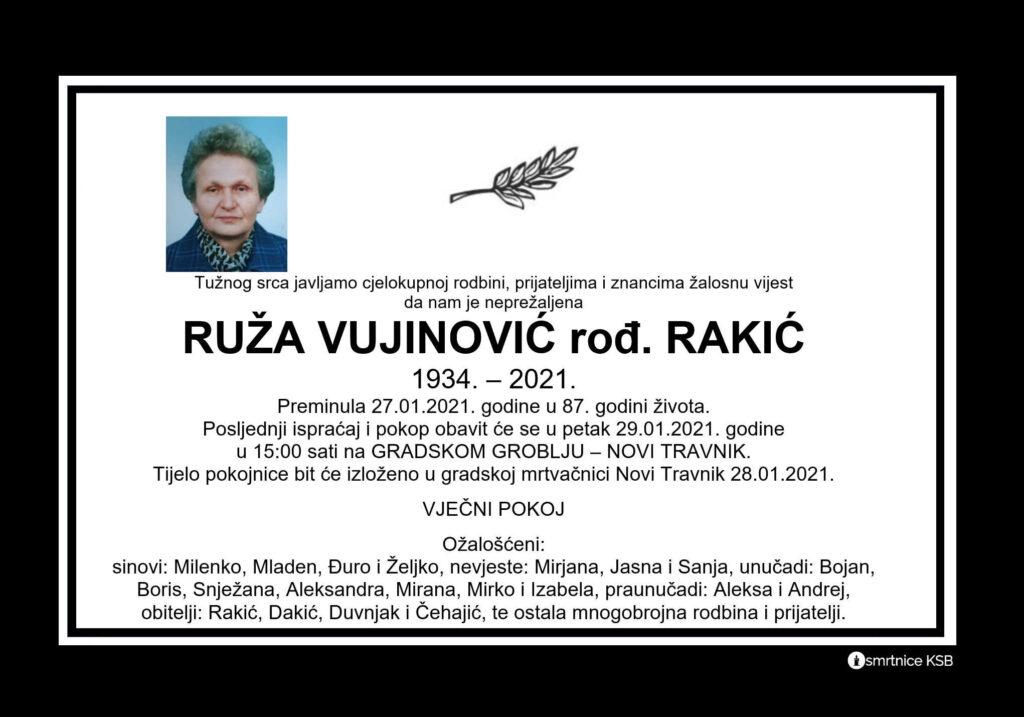 Preminula Ruža Vujinović