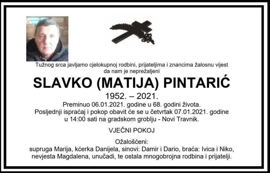 Preminuo Slavko Pintarić