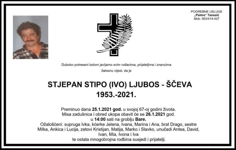 Preminuo Stjepan Ljubos