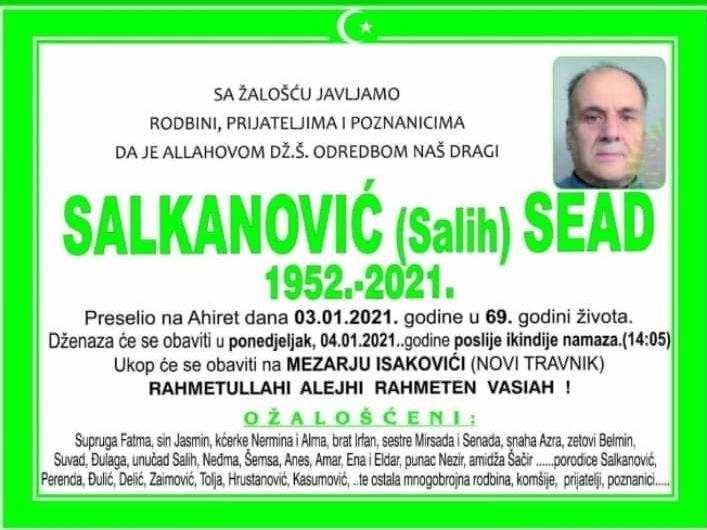 Preminuo je Sead Salkanović