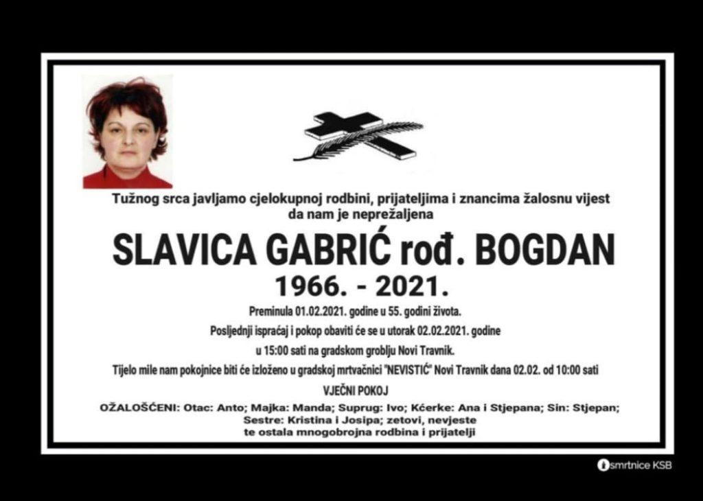 Preminula Slavica Gabrić