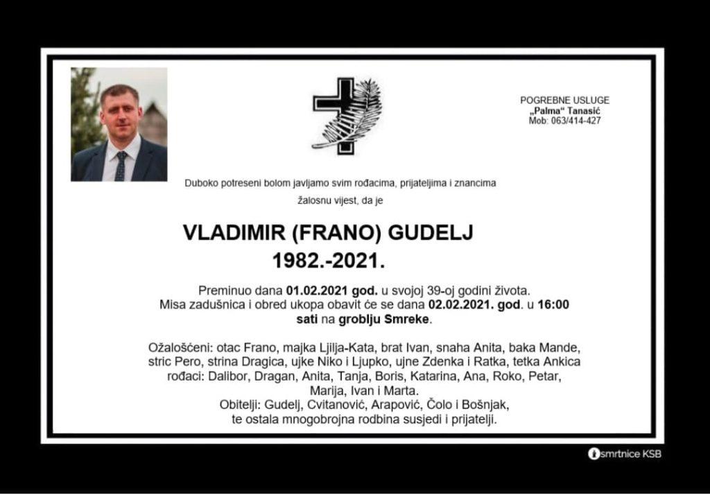 Preminuo Vladimir Gudelj