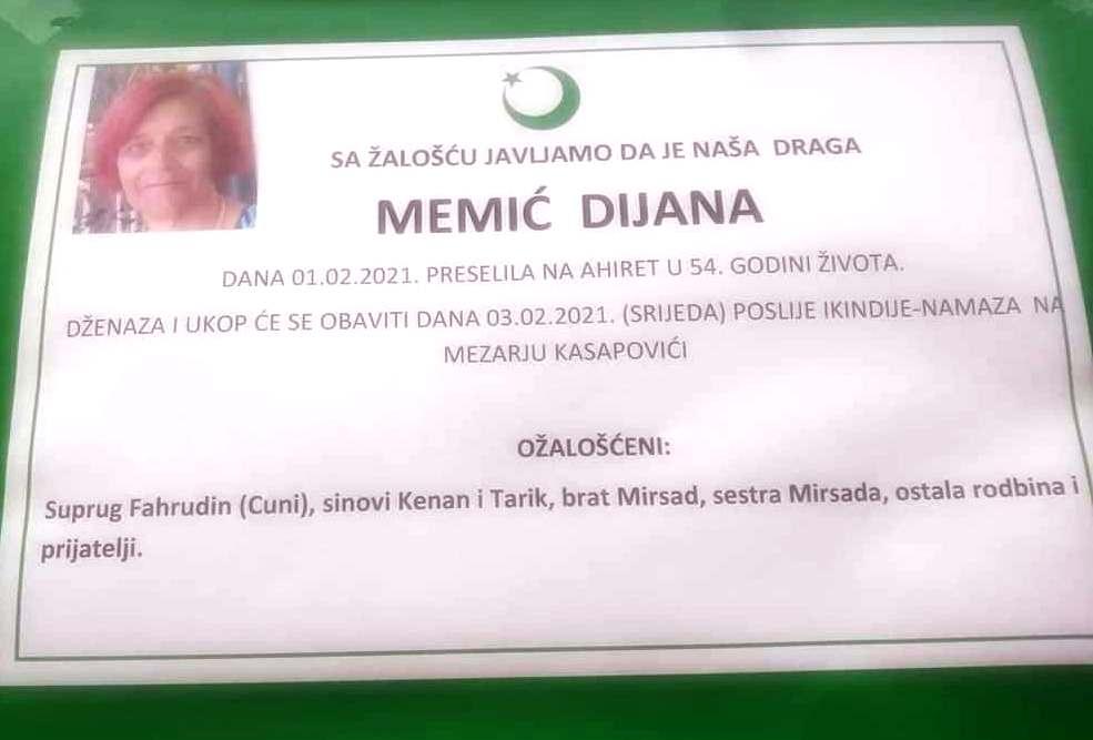 Preminula Dijana Memić