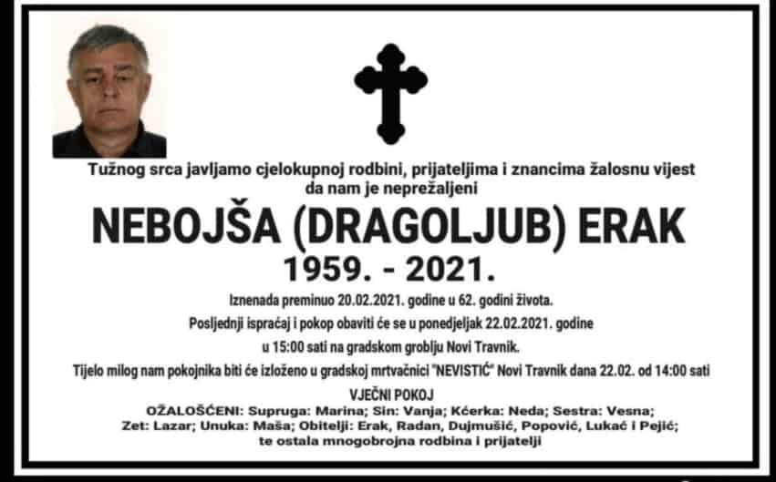 Preminuo Nebojša Erak