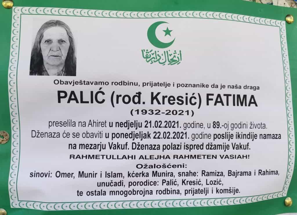 Preminula Fatima Palić
