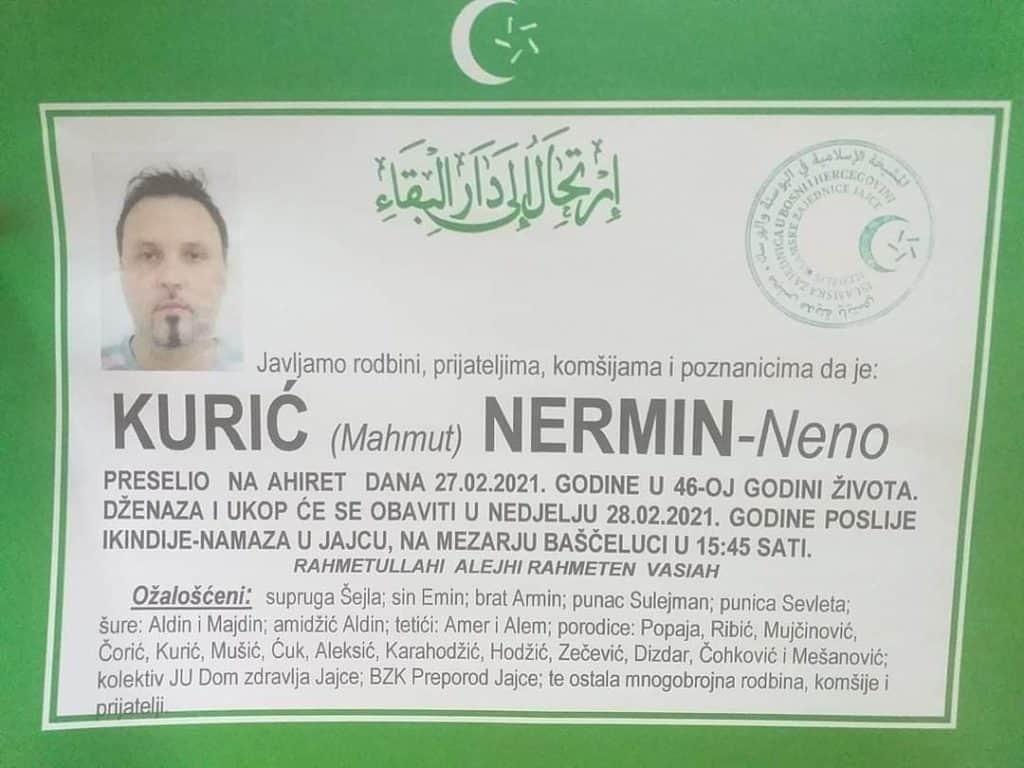 Preminuo Kurić Nermin - Neno