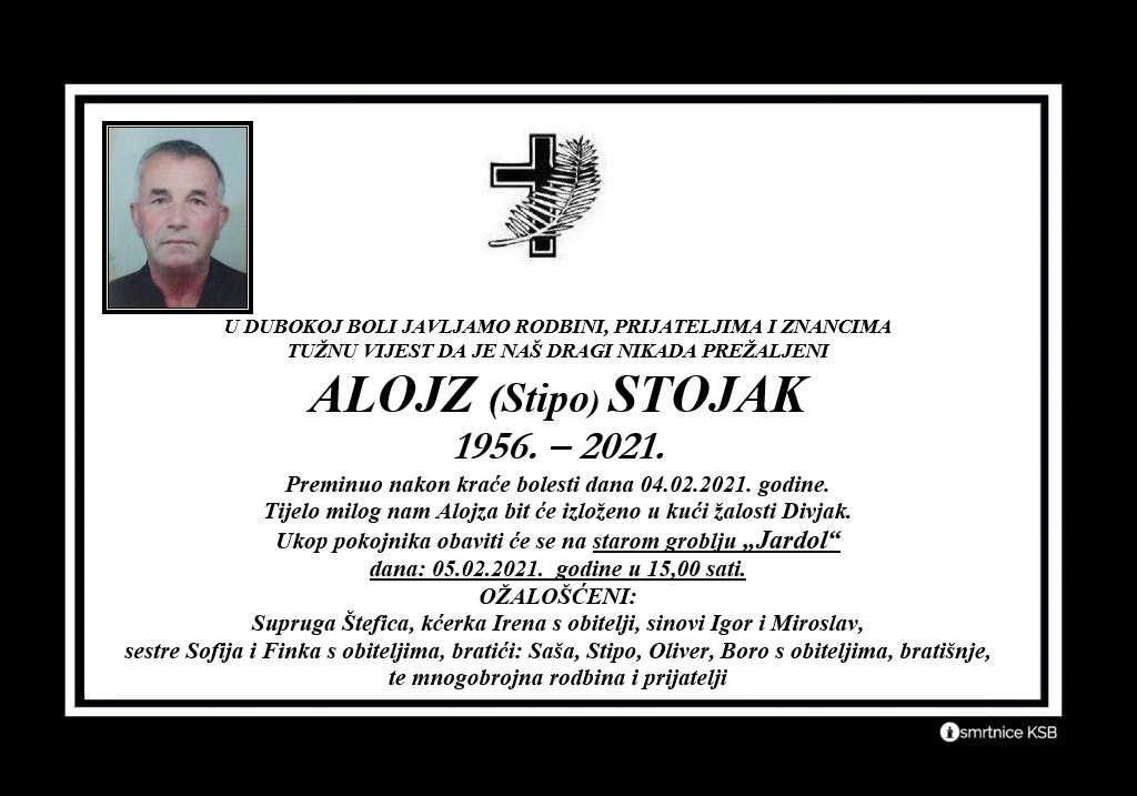 Preminuo Alojz Stojak