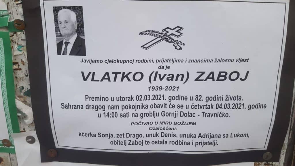 Preminuo Vlatko Zaboj