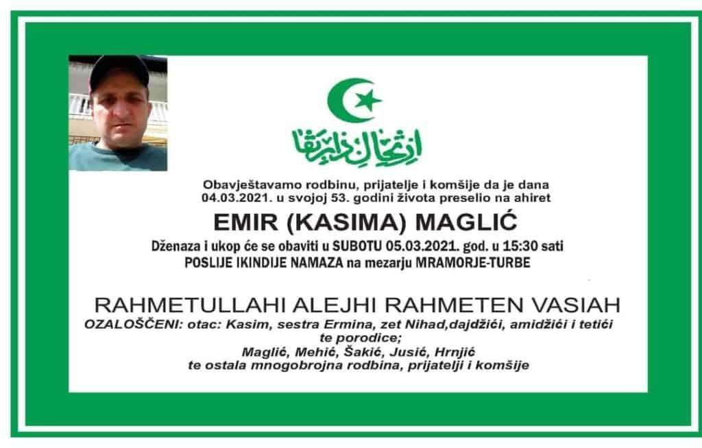 Preminuo Emir Maglić