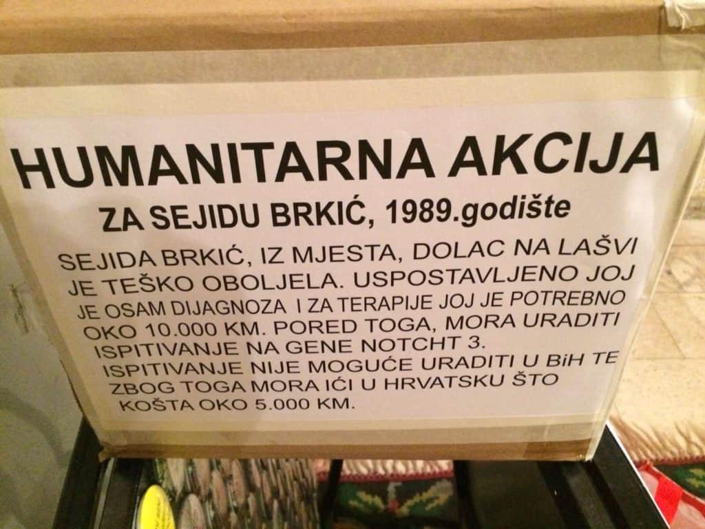 Danas u Travniku humanitarna akcija za Sejidu Brkić