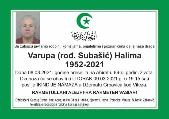 Preminula Halima Varupa