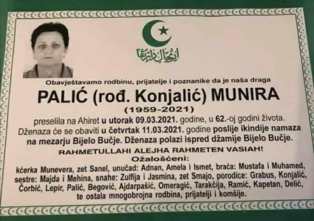 Preminula Munira Palić
