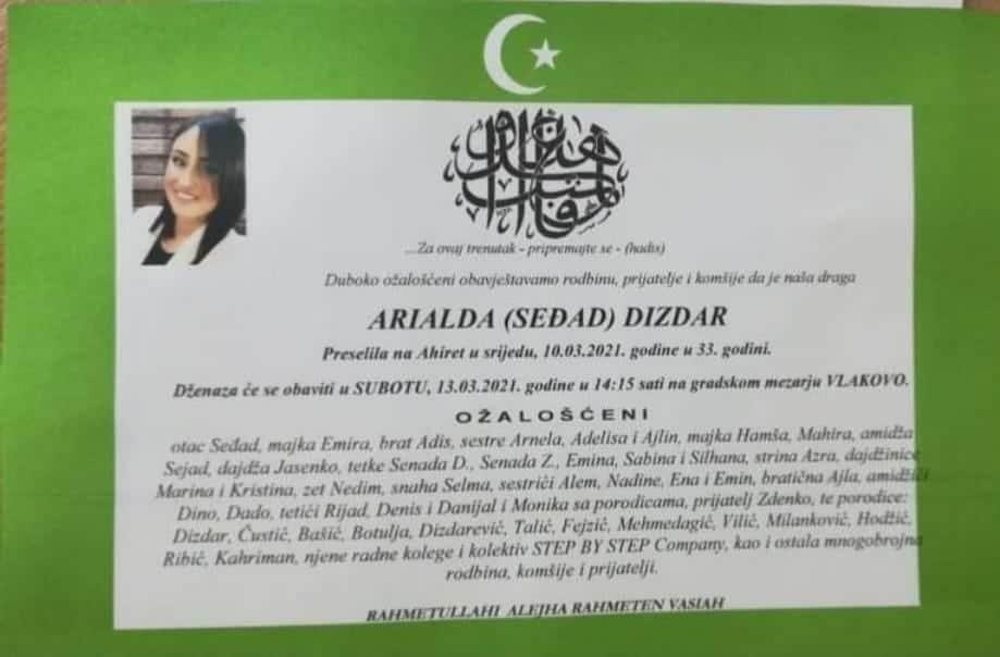 Preminula Arialda Dizdar