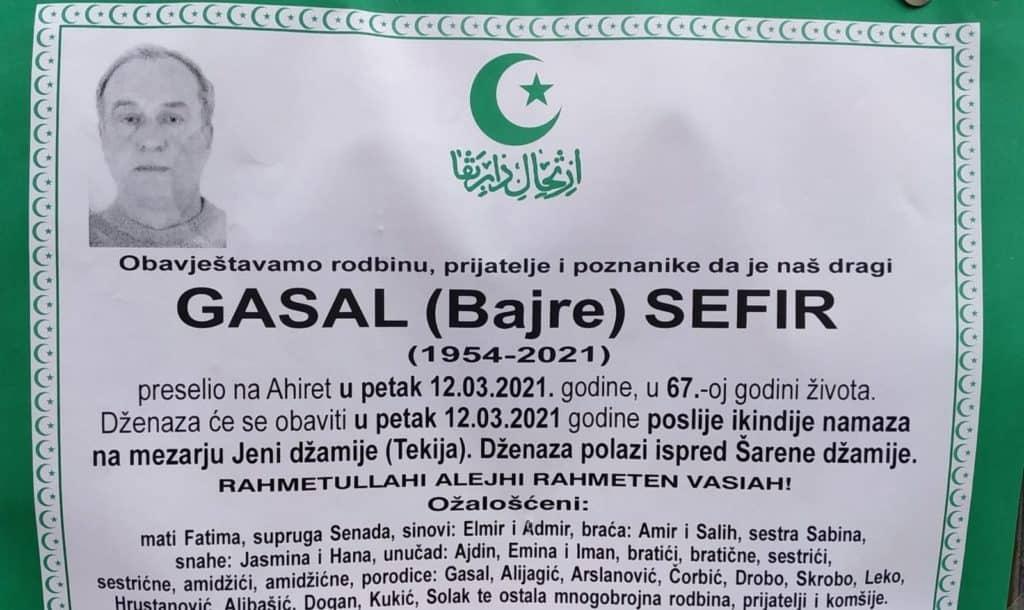 Preminuo Sefir Gasal