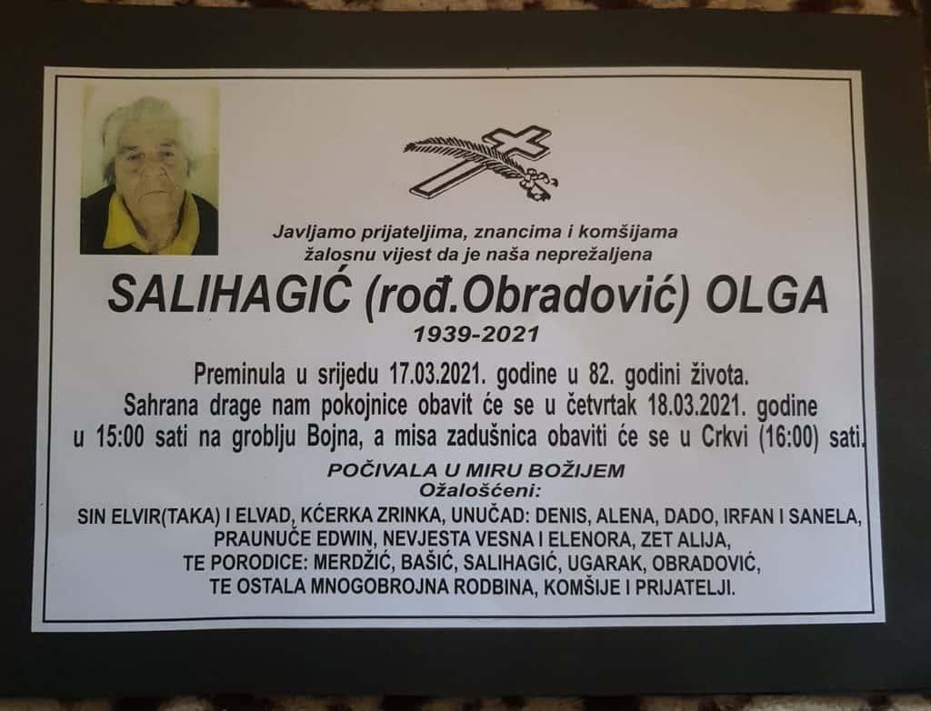 Preminula Salihagić Olga