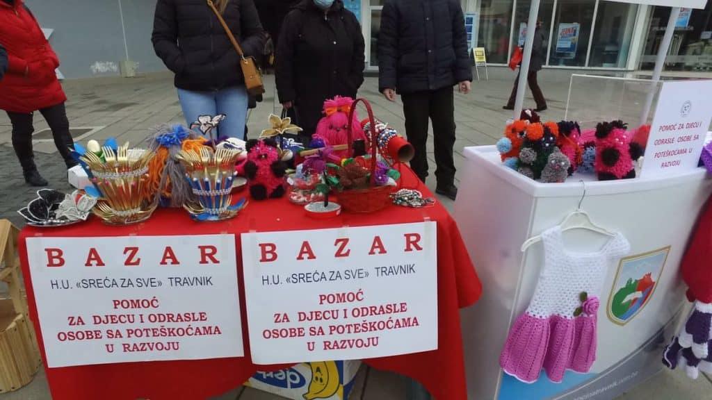 TRAVNIK / Bazar za djecu i odrasle osoba s poteškoćama u razvoju