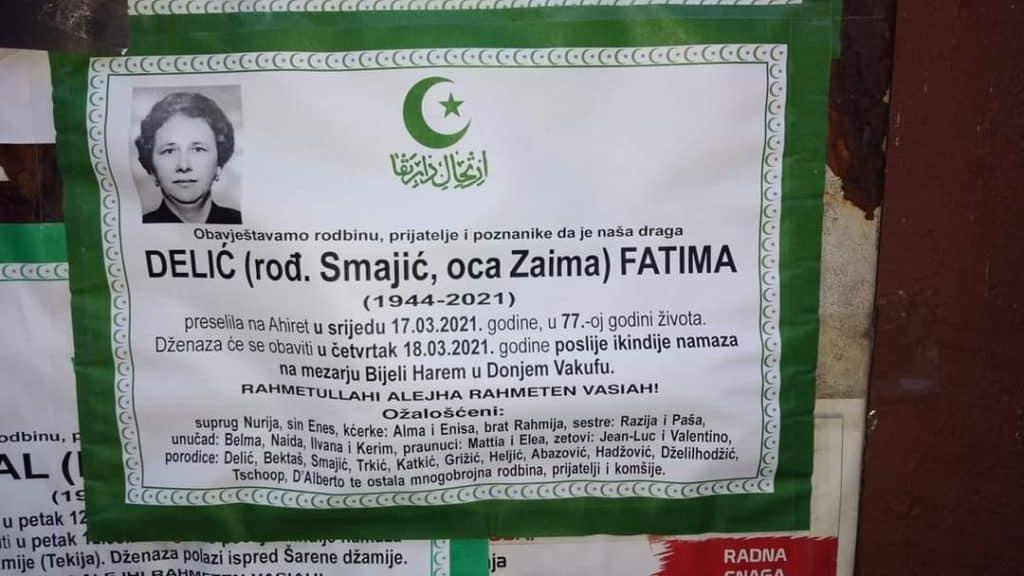 Preminula Delić Fatima