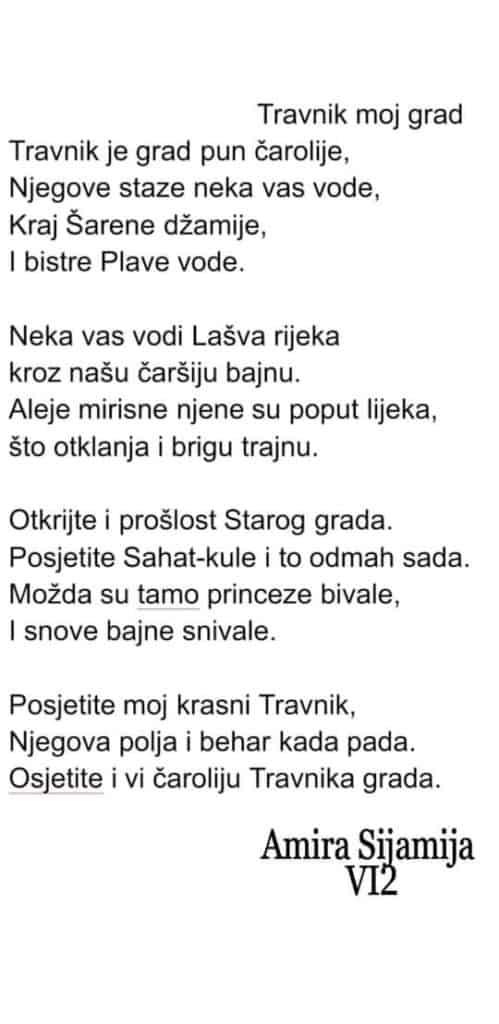 Travnik, inspiracija i učenici Amiri Sijamiji