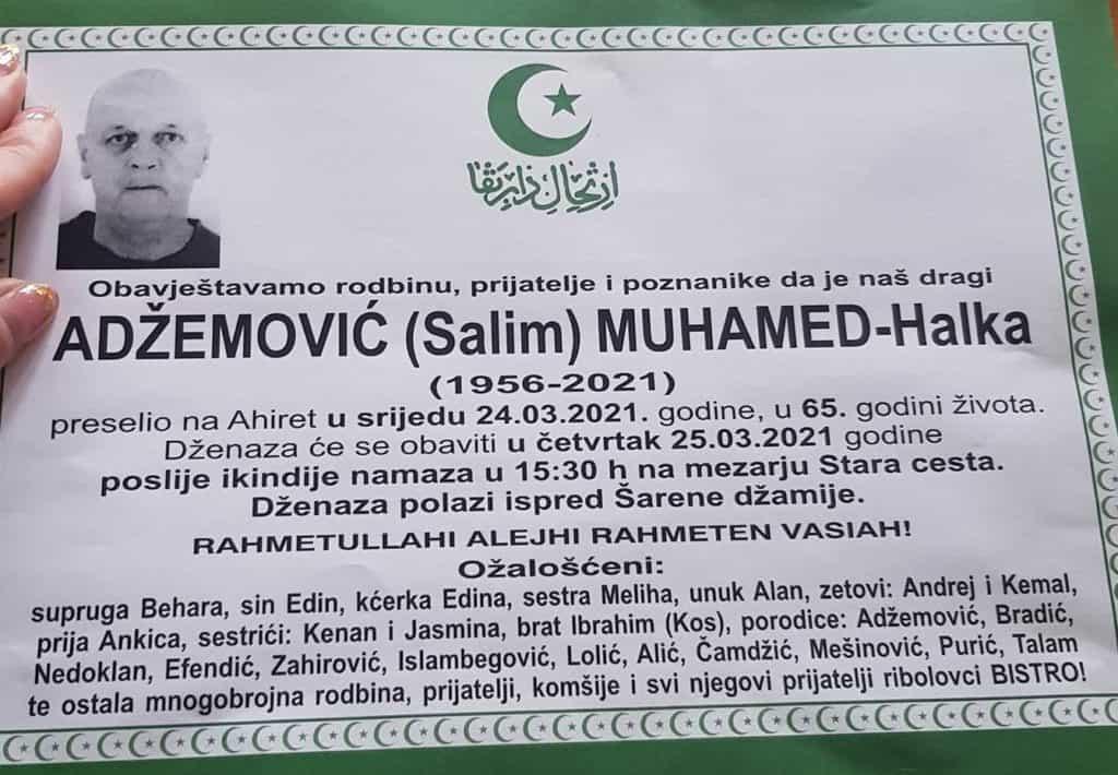 Preminuo Muhamed Adžemović Halka