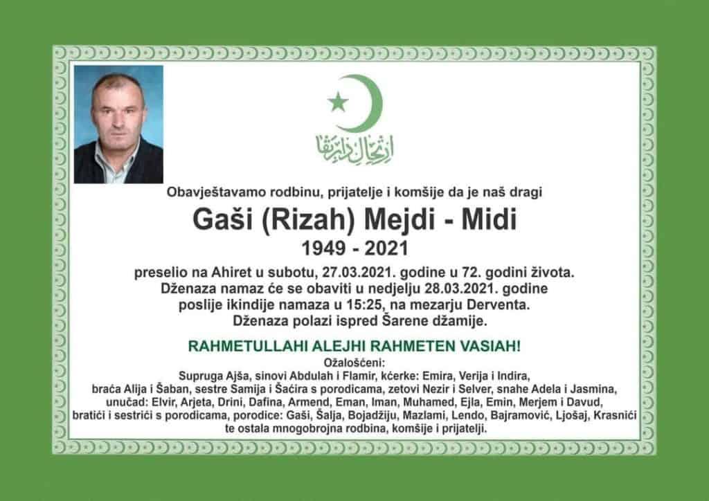 Preminuo Gaši Mejdi - Midi