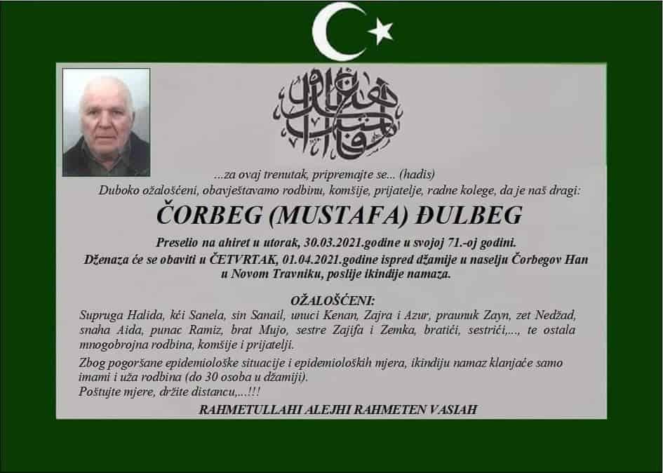 Preminuo Čorbeg Đulbeg