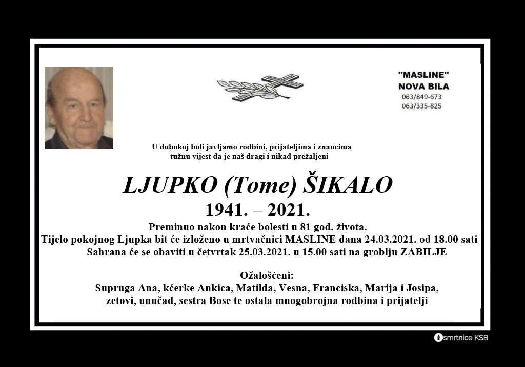 Preminuo Ljupko Šikalo