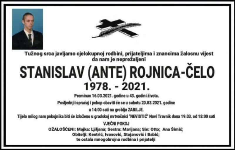 Sutra sahrana Stanislavu Rojnici