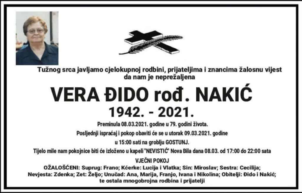 Preminula Vera Đido