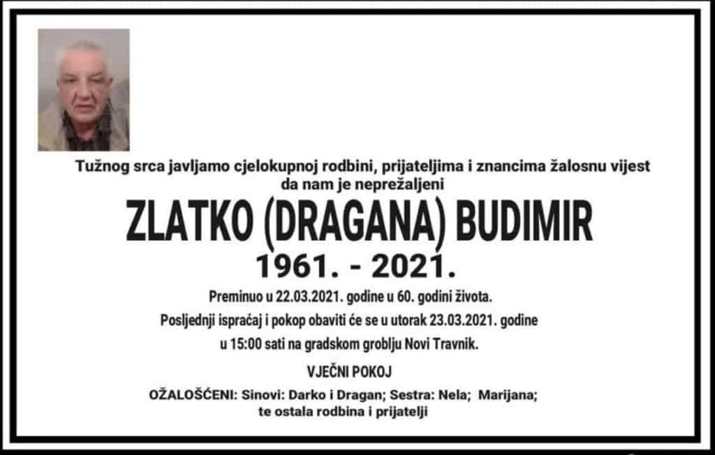Preminuo Zlatko Budimir