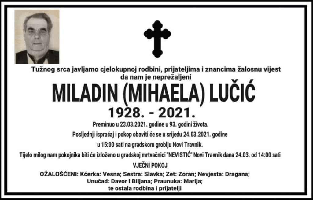 Preminuo Miladin Lučić