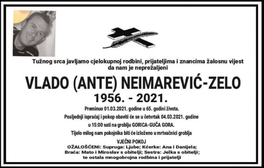 Preminuo Vlado Neimarević