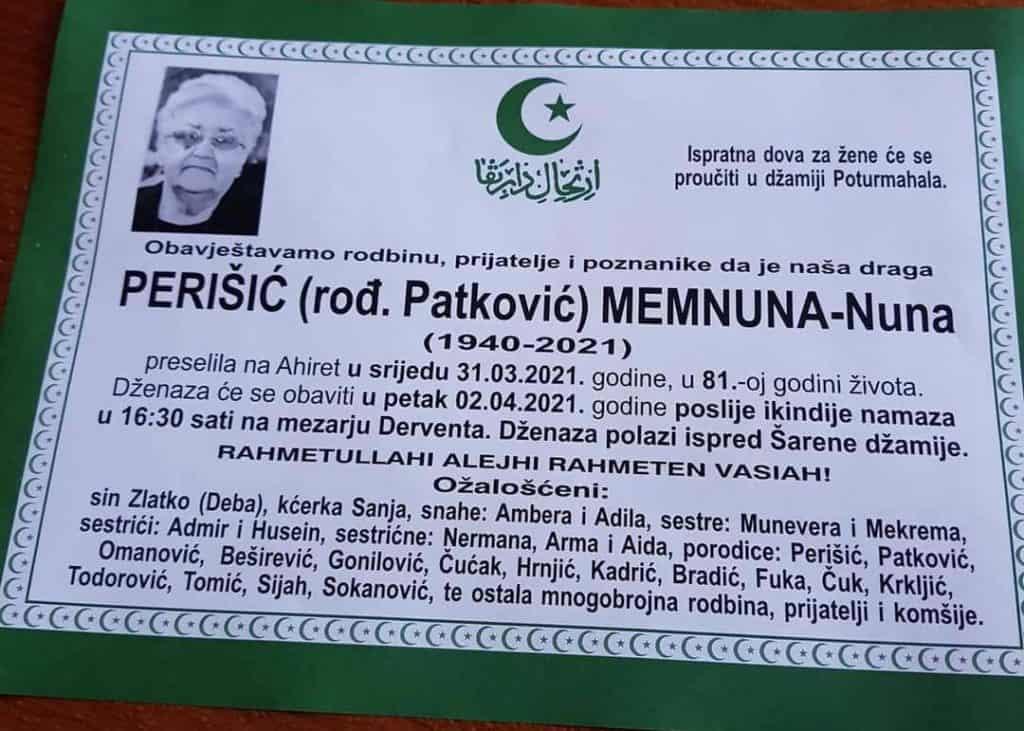 Preminula Memnuna Perišić