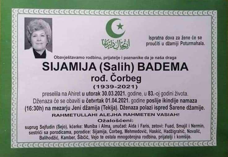 Preminula Sijamija Badema
