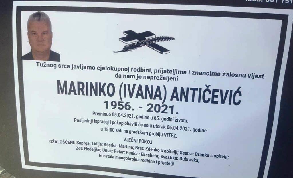 Preminuo Marinko Antičević