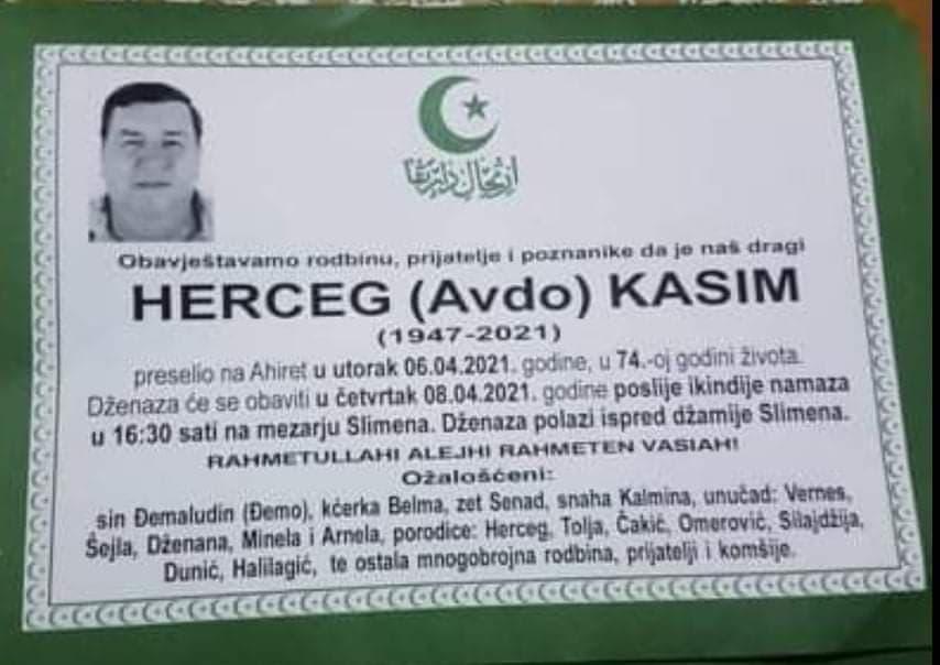 Preminuo Kasim Herceg