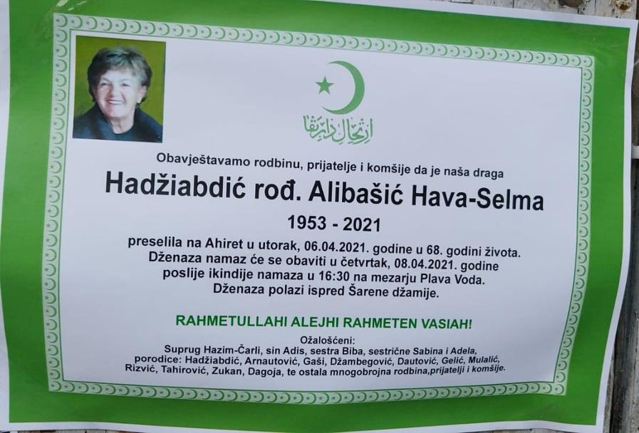 Preminula Hadžiabdić Hava-Selma