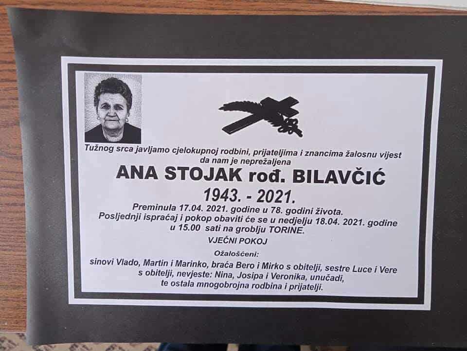 Preminula Ana Stojak