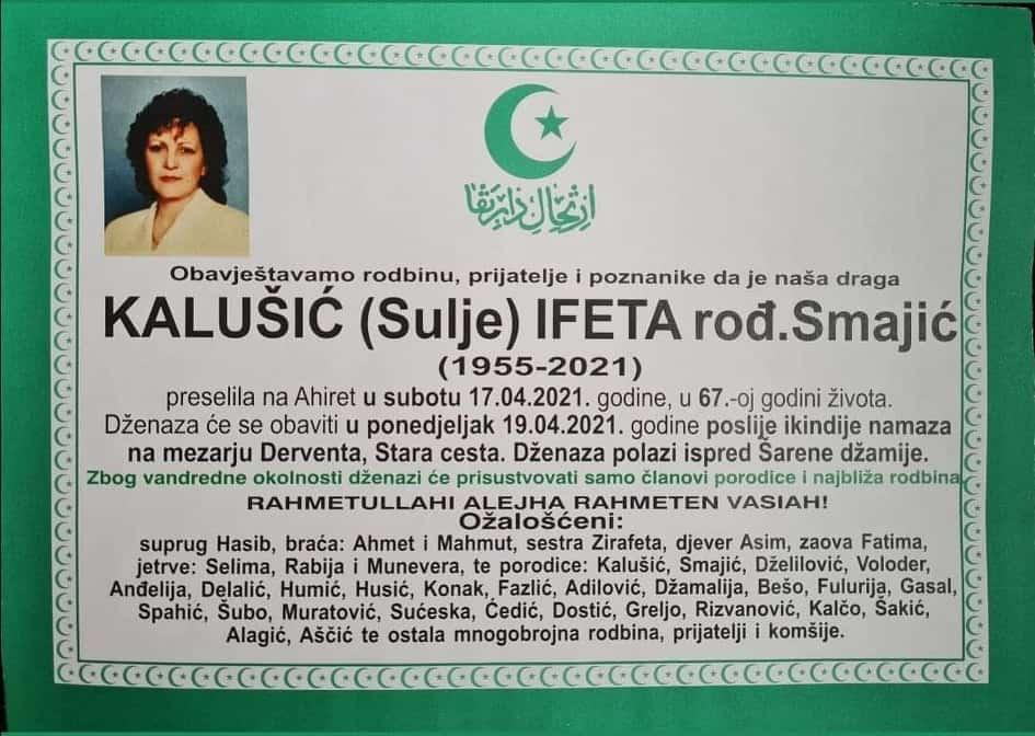 Preminula Ifeta Kalušić