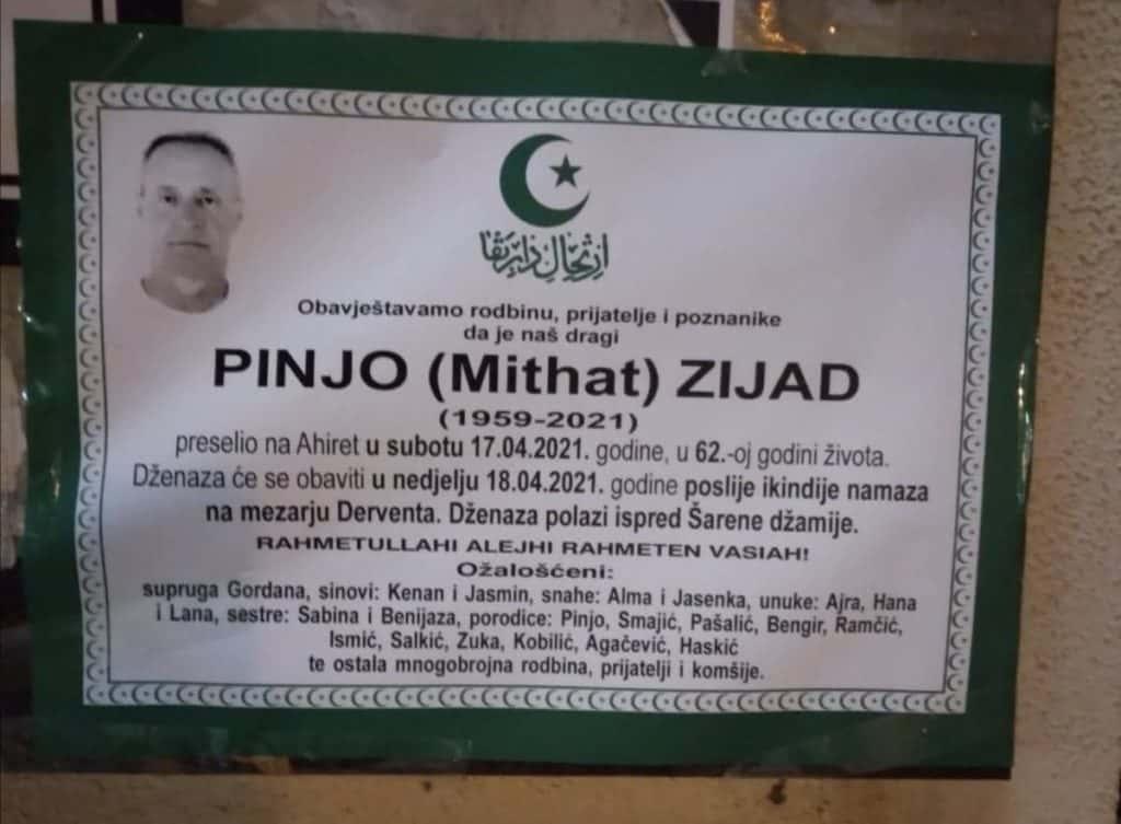 Preminuo Zijad Pinjo