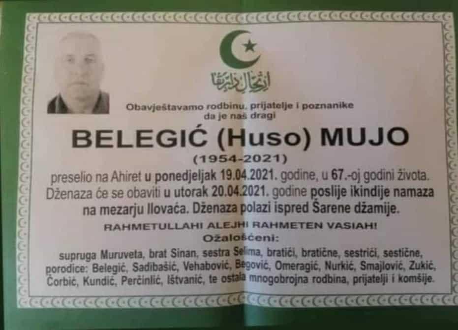 Preminuo Belegić Mujo