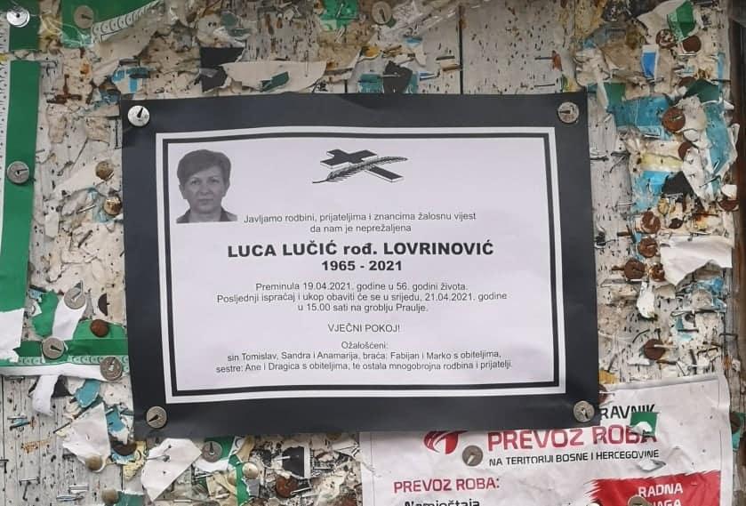 Preminula Luca Lučić