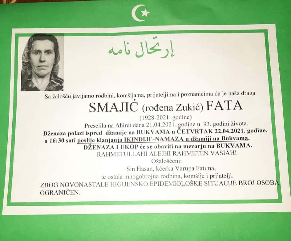 Preminula Smajić Fata