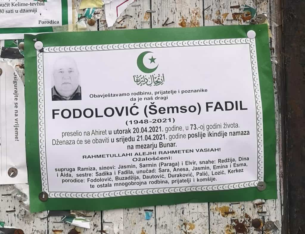 Preminuo Fadil Fodolović