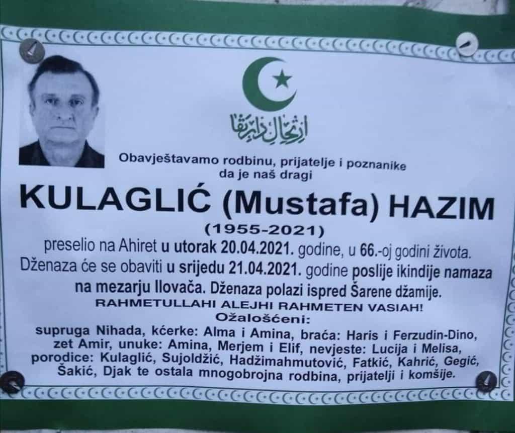 Preminuo Hazim Kulagić