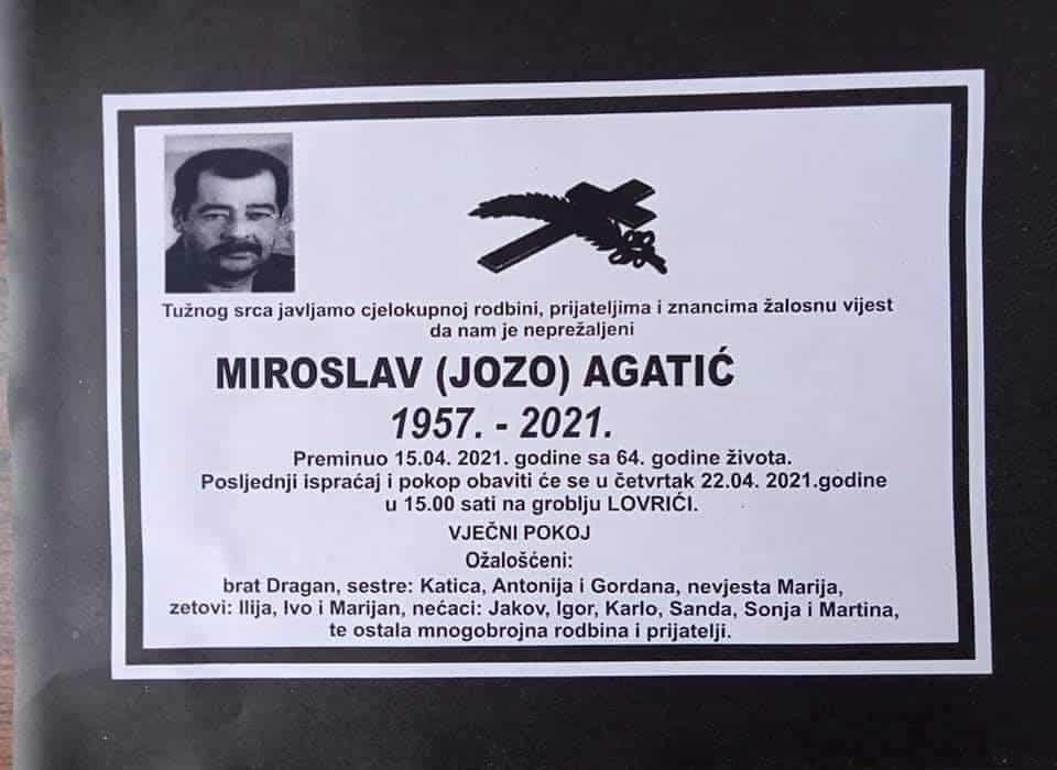 Preminuo Miroslav Agatić